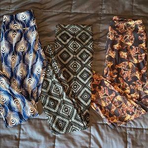 Bundle of 3 patterned leggings